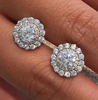 Diamond Earrings available at Diamond World